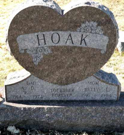 HOAK, A D - Richland County, Ohio | A D HOAK - Ohio Gravestone Photos