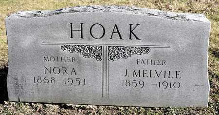 HOAK, J MELVILE - Richland County, Ohio | J MELVILE HOAK - Ohio Gravestone Photos