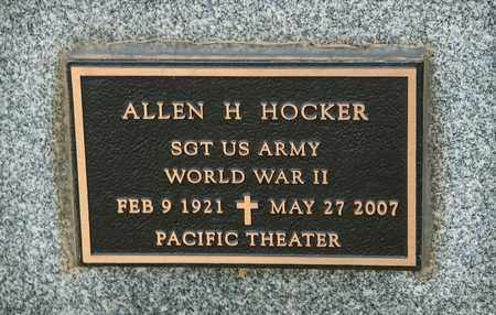 HOCKER, ALLEN H - Richland County, Ohio | ALLEN H HOCKER - Ohio Gravestone Photos