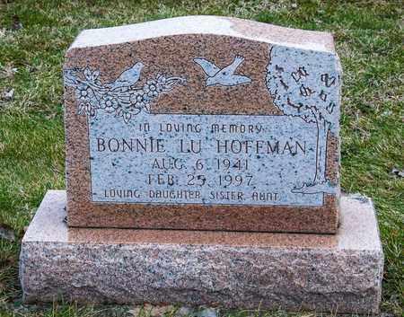HOFFMAN, BONNIE LU - Richland County, Ohio | BONNIE LU HOFFMAN - Ohio Gravestone Photos