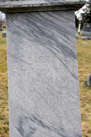 THOMAS HOLGATE, ELIZABETH LOUISE - Richland County, Ohio | ELIZABETH LOUISE THOMAS HOLGATE - Ohio Gravestone Photos