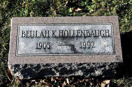 HOLLENBAUGH, BEULAH K - Richland County, Ohio | BEULAH K HOLLENBAUGH - Ohio Gravestone Photos