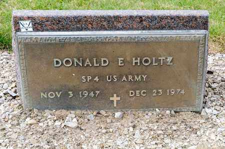 HOLTZ, DONALD E - Richland County, Ohio | DONALD E HOLTZ - Ohio Gravestone Photos