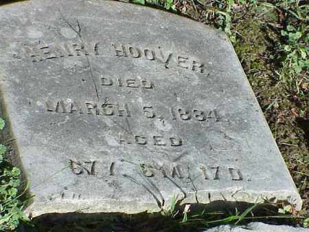 HOOVER, HENRY - Richland County, Ohio | HENRY HOOVER - Ohio Gravestone Photos