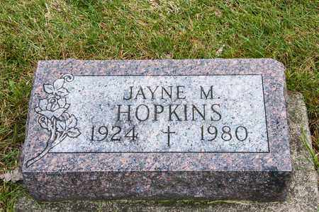 HOPKINS, JAYNE M - Richland County, Ohio | JAYNE M HOPKINS - Ohio Gravestone Photos
