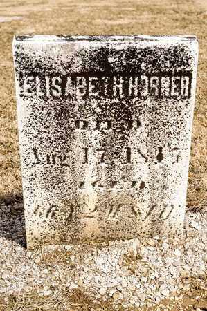 HORNER, ELISABETH - Richland County, Ohio | ELISABETH HORNER - Ohio Gravestone Photos