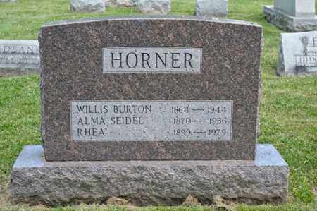 HORNER, WILLIS BURTON - Richland County, Ohio | WILLIS BURTON HORNER - Ohio Gravestone Photos