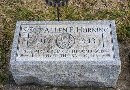HORNING, ALLEN E - Richland County, Ohio | ALLEN E HORNING - Ohio Gravestone Photos