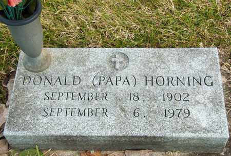 HORNING, DONALD - Richland County, Ohio | DONALD HORNING - Ohio Gravestone Photos