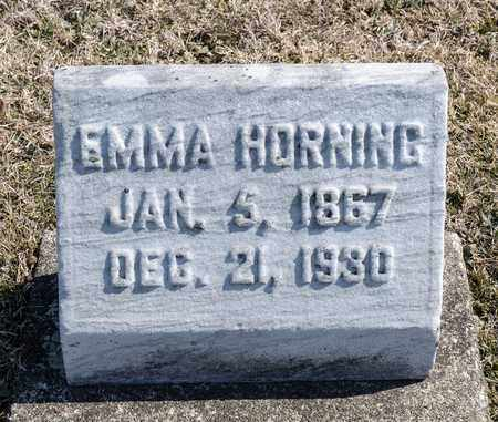 HORNING, EMMA - Richland County, Ohio | EMMA HORNING - Ohio Gravestone Photos