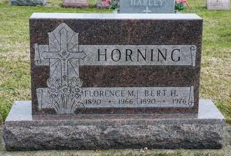 HORNING, BERT H - Richland County, Ohio | BERT H HORNING - Ohio Gravestone Photos