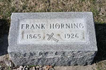 HORNING, FRANK - Richland County, Ohio | FRANK HORNING - Ohio Gravestone Photos