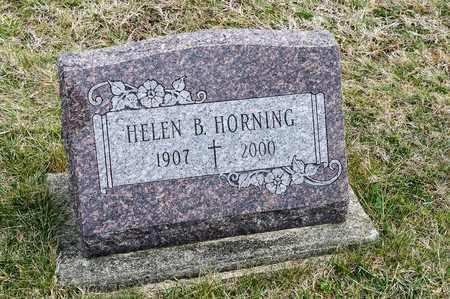 HORNING, HELEN B - Richland County, Ohio | HELEN B HORNING - Ohio Gravestone Photos