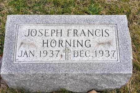 HORNING, JOSEPH FRANCIS - Richland County, Ohio | JOSEPH FRANCIS HORNING - Ohio Gravestone Photos