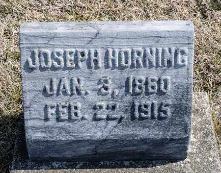 HORNING, JOSEPH - Richland County, Ohio   JOSEPH HORNING - Ohio Gravestone Photos