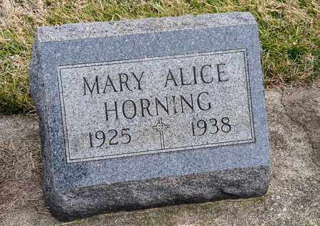HORNING, MARY ALICE - Richland County, Ohio | MARY ALICE HORNING - Ohio Gravestone Photos