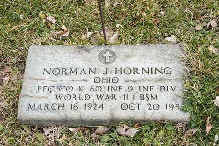 HORNING, NORMAN J - Richland County, Ohio | NORMAN J HORNING - Ohio Gravestone Photos