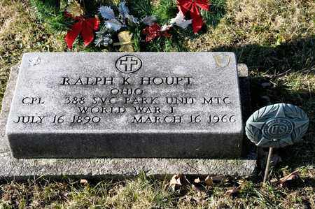 HOUPT, RALPH K - Richland County, Ohio | RALPH K HOUPT - Ohio Gravestone Photos