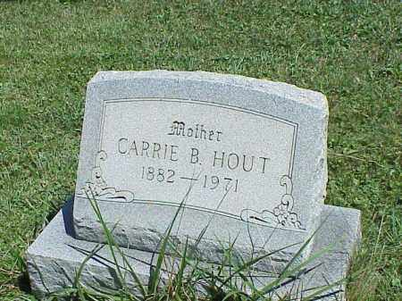 HOUT, CARRIE B. - Richland County, Ohio | CARRIE B. HOUT - Ohio Gravestone Photos