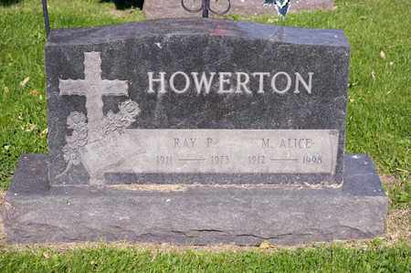 HOWERTON, M ALICE - Richland County, Ohio | M ALICE HOWERTON - Ohio Gravestone Photos