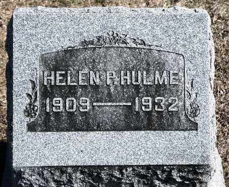 HULME, HELEN P - Richland County, Ohio | HELEN P HULME - Ohio Gravestone Photos