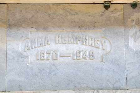HUMPHREY, ANNA - Richland County, Ohio | ANNA HUMPHREY - Ohio Gravestone Photos