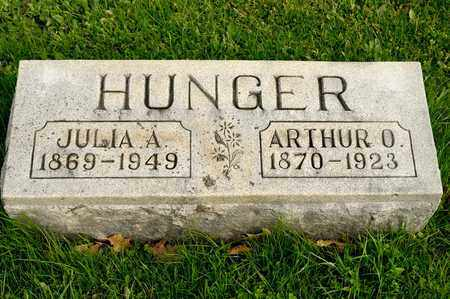 HUNGER, JULIA A - Richland County, Ohio | JULIA A HUNGER - Ohio Gravestone Photos