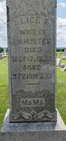 HUNTER, ALICE E - Richland County, Ohio | ALICE E HUNTER - Ohio Gravestone Photos