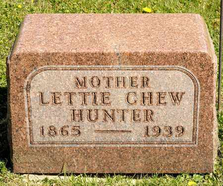 CHEW HUNTER, LETTIE - Richland County, Ohio | LETTIE CHEW HUNTER - Ohio Gravestone Photos