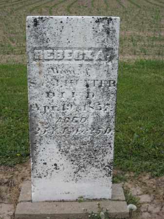 HUNTER, REBECKA - Richland County, Ohio | REBECKA HUNTER - Ohio Gravestone Photos