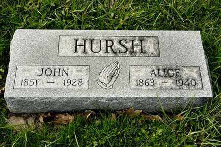 HURSH, ALICE - Richland County, Ohio | ALICE HURSH - Ohio Gravestone Photos