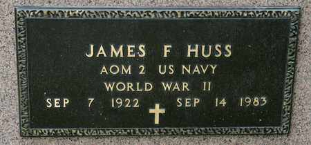HUSS, JAMES F - Richland County, Ohio | JAMES F HUSS - Ohio Gravestone Photos
