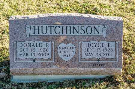 HUTCHINSON, DONALD R - Richland County, Ohio | DONALD R HUTCHINSON - Ohio Gravestone Photos