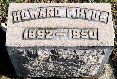 HYDE, HOWARD F - Richland County, Ohio | HOWARD F HYDE - Ohio Gravestone Photos