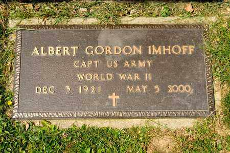 IMHOFF, ALBERT GORDON - Richland County, Ohio | ALBERT GORDON IMHOFF - Ohio Gravestone Photos