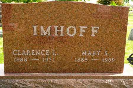 IMHOFF, MARY K - Richland County, Ohio | MARY K IMHOFF - Ohio Gravestone Photos