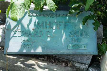 IMHOFF, EDWARD C - Richland County, Ohio | EDWARD C IMHOFF - Ohio Gravestone Photos
