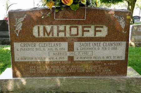 IMHOFF, GROVER CLEVELAND - Richland County, Ohio | GROVER CLEVELAND IMHOFF - Ohio Gravestone Photos