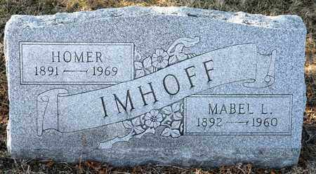 IMHOFF, MABEL L - Richland County, Ohio | MABEL L IMHOFF - Ohio Gravestone Photos