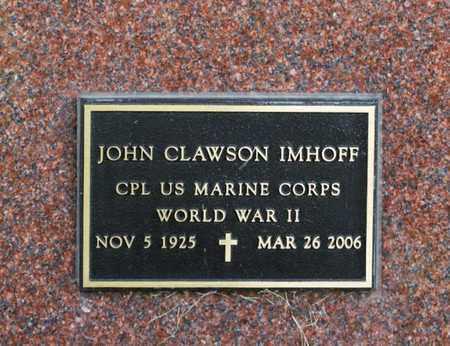 IMHOFF, JOHN CLAWSON - Richland County, Ohio | JOHN CLAWSON IMHOFF - Ohio Gravestone Photos