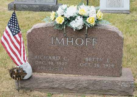 IMHOFF, RICHARD C - Richland County, Ohio | RICHARD C IMHOFF - Ohio Gravestone Photos