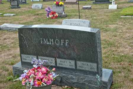 IMHOFF, THOMAS H - Richland County, Ohio | THOMAS H IMHOFF - Ohio Gravestone Photos