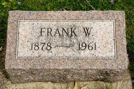 IREY, FRANK W - Richland County, Ohio | FRANK W IREY - Ohio Gravestone Photos
