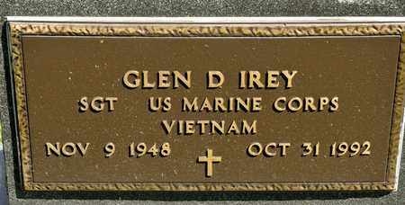 IREY, GLEN D - Richland County, Ohio | GLEN D IREY - Ohio Gravestone Photos