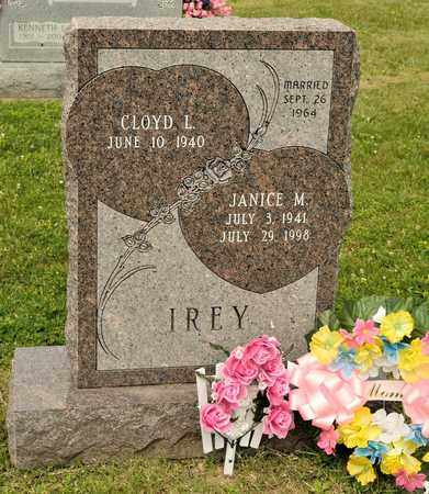 IREY, JANICE M - Richland County, Ohio | JANICE M IREY - Ohio Gravestone Photos