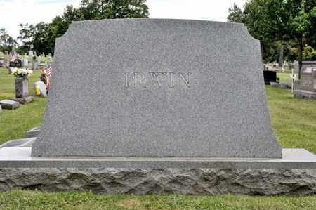 IRWIN, WILLIAM G - Richland County, Ohio | WILLIAM G IRWIN - Ohio Gravestone Photos