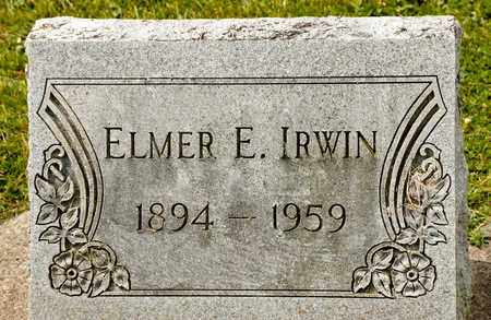 IRWIN, ELMER E - Richland County, Ohio | ELMER E IRWIN - Ohio Gravestone Photos