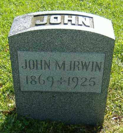 IRWIN, JOHN M. - Richland County, Ohio | JOHN M. IRWIN - Ohio Gravestone Photos