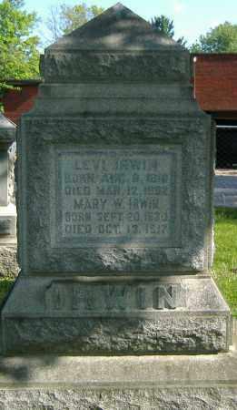 IRWIN, MARY W. - Richland County, Ohio | MARY W. IRWIN - Ohio Gravestone Photos
