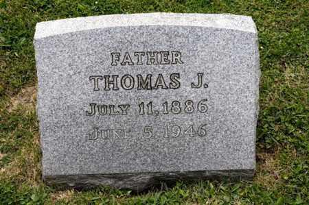 IRWIN, THOMAS J - Richland County, Ohio | THOMAS J IRWIN - Ohio Gravestone Photos
